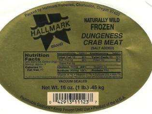 Hallmark Crab Meat May Pose Health Risk