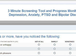 One-Page Questionnaire Effective Screening Tool for Common Psychiatric Disorders