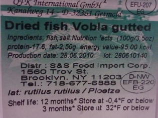 FDA Recalls Dried Fish (...and who wouldn't!)